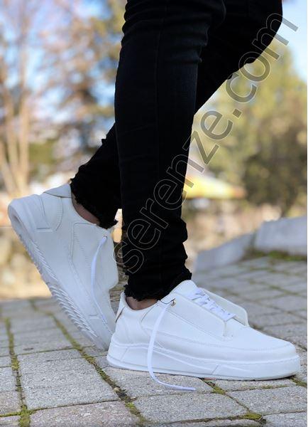 Beyaz Pencereli Erkek Spor Ayakkabı