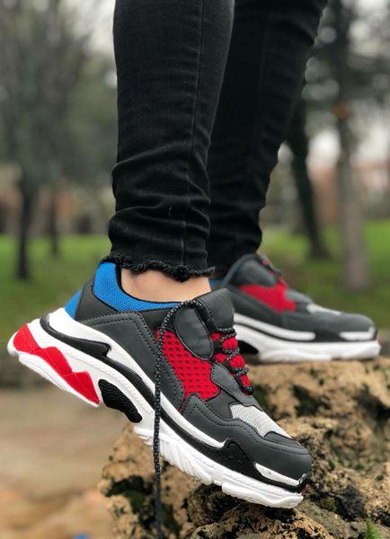 Geniş Taban Saks Kırmızı Erkek Spor Ayakkabı
