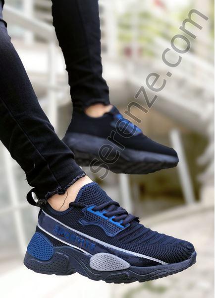 Lacivert Sportif Triko Erkek Spor Ayakkabı