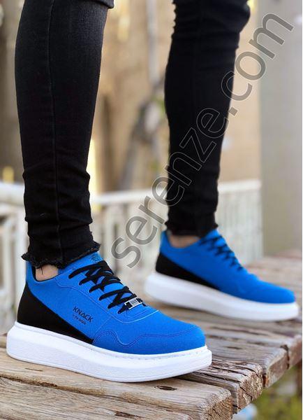Mavi Süet Yüksek Taban Erkek Spor Ayakkabı