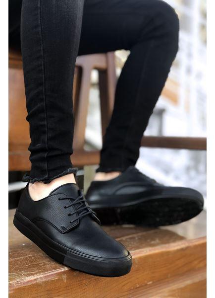 Serenze Caen Siyah Bağcıklı Spor Erkek Klasik Ayakkabı