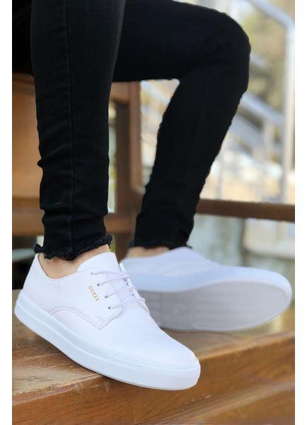 Serenze Caen Beyaz Bağcıklı Spor Erkek Klasik Ayakkabı