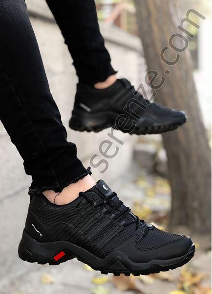 Siyah Desenli Trekking Erkek Spor Ayakkabı