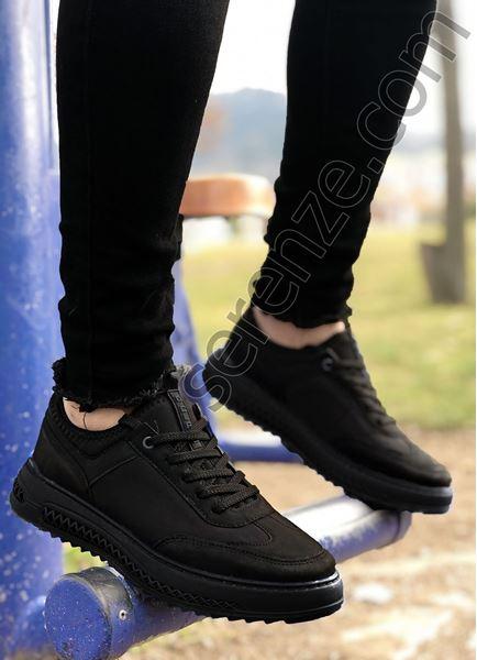 Siyah Zigzag Taban Erkek Spor Ayakkabı