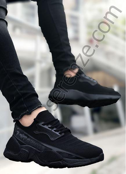 Siyah Sportif Triko Erkek Spor Ayakkabı
