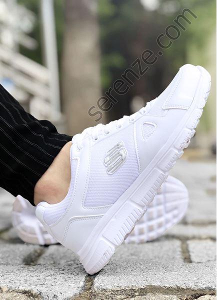 Beyaz File Detay Erkek Spor Ayakkabı
