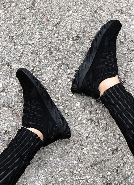 Siyah Çizgili Siyah Erkek Spor Ayakkabı