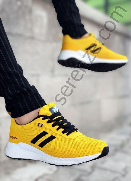 Sarı Çizgili Erkek Spor Ayakkabı