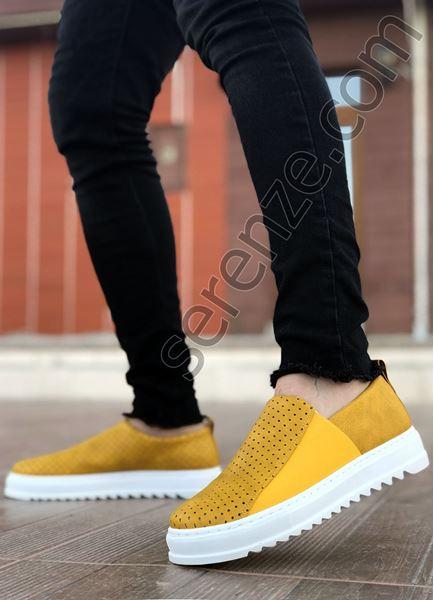 Serenze Rarri Hardal Tırtık Taban Delikli Erkek Günlük Ayakkabı