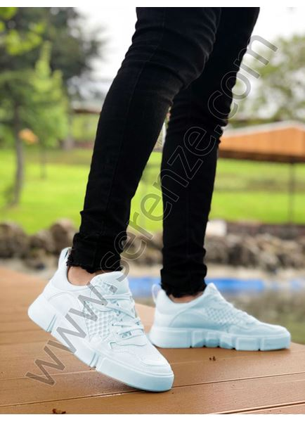 Beyaz Fileli Erkek Spor Ayakkabı