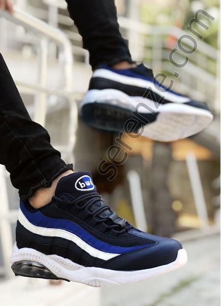 Lacivert Çizgi Desen Erkek Basketbol Ayakkabısı