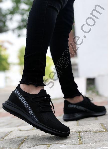 Siyah Füme Yazı Detay Erkek Spor Ayakkabı