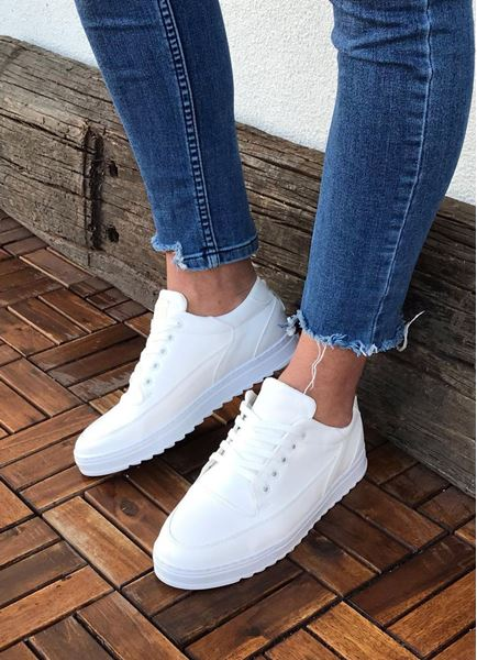 Tırtık Taban Beyaz Erkek Günlük Ayakkabı