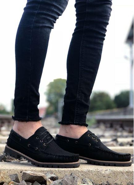 Bağcıklı Siyah Klasik Ayakkabı