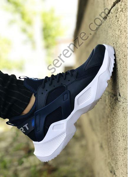 Lacivert Mekanik Ultra Hafif Erkek Spor Ayakkabı
