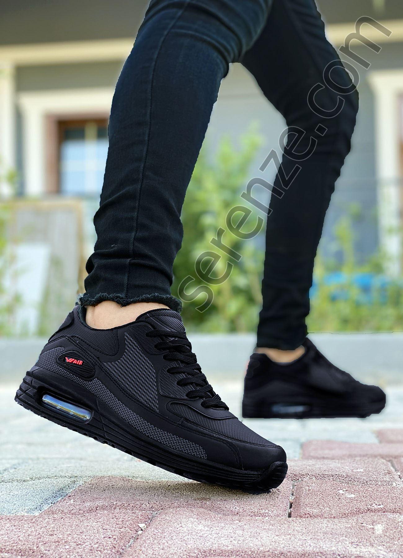 AirMax Siyah Erkek Spor Ayakkabı