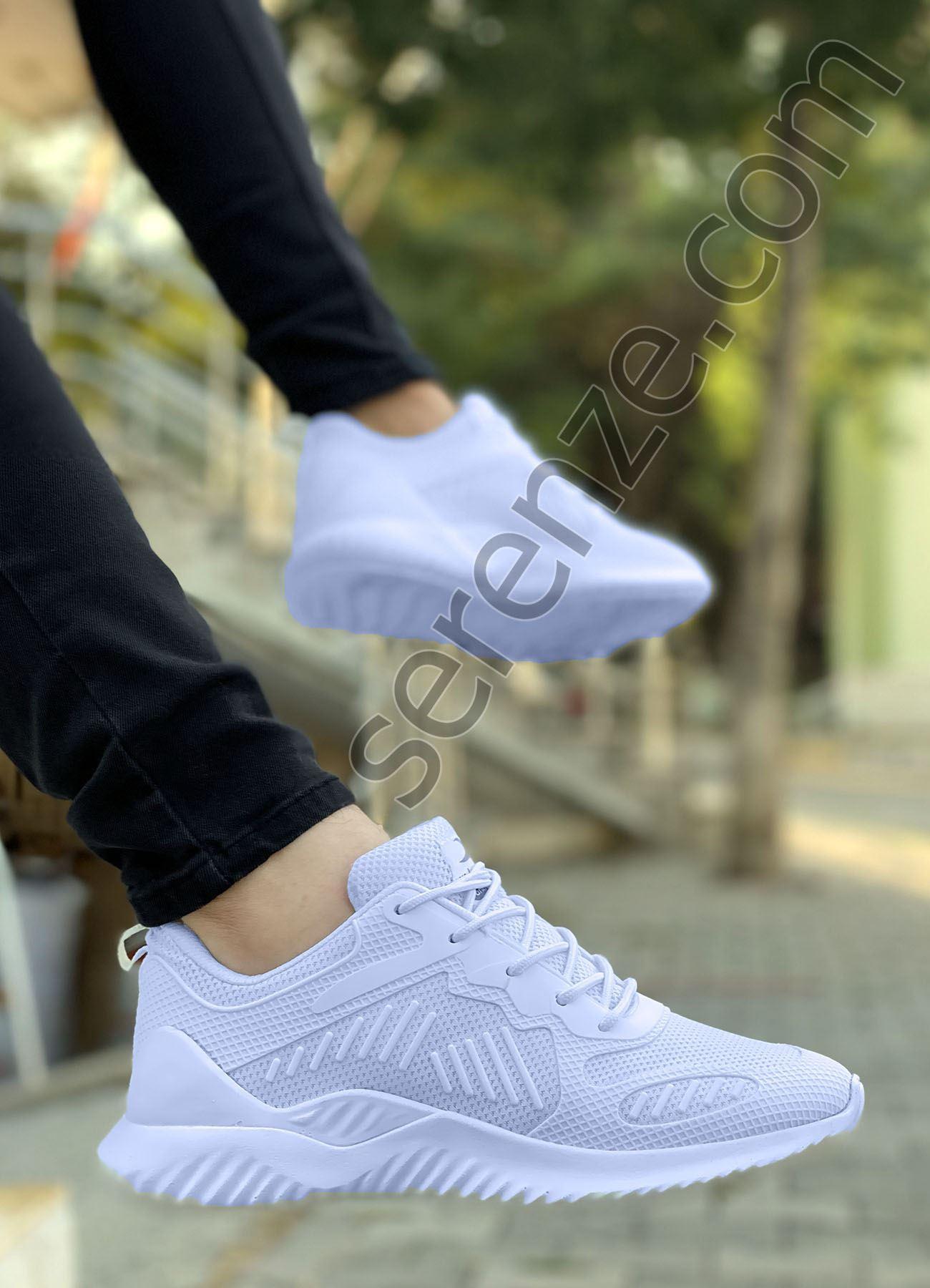 Beyaz Triko Rahat Erkek Spor Ayakkabı