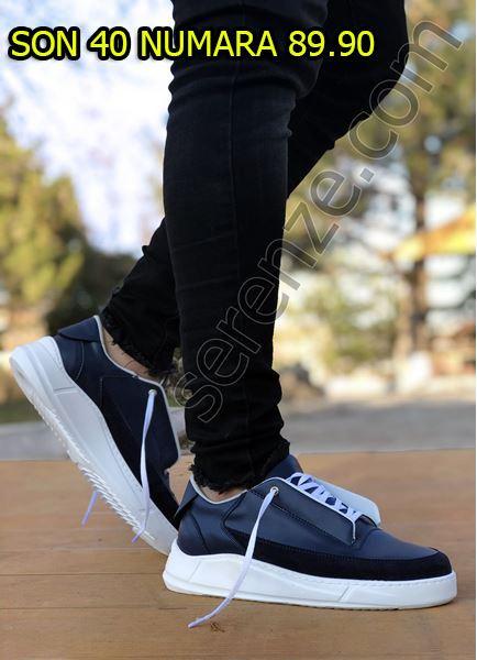 Lacivert Pencereli Erkek Spor Ayakkabı
