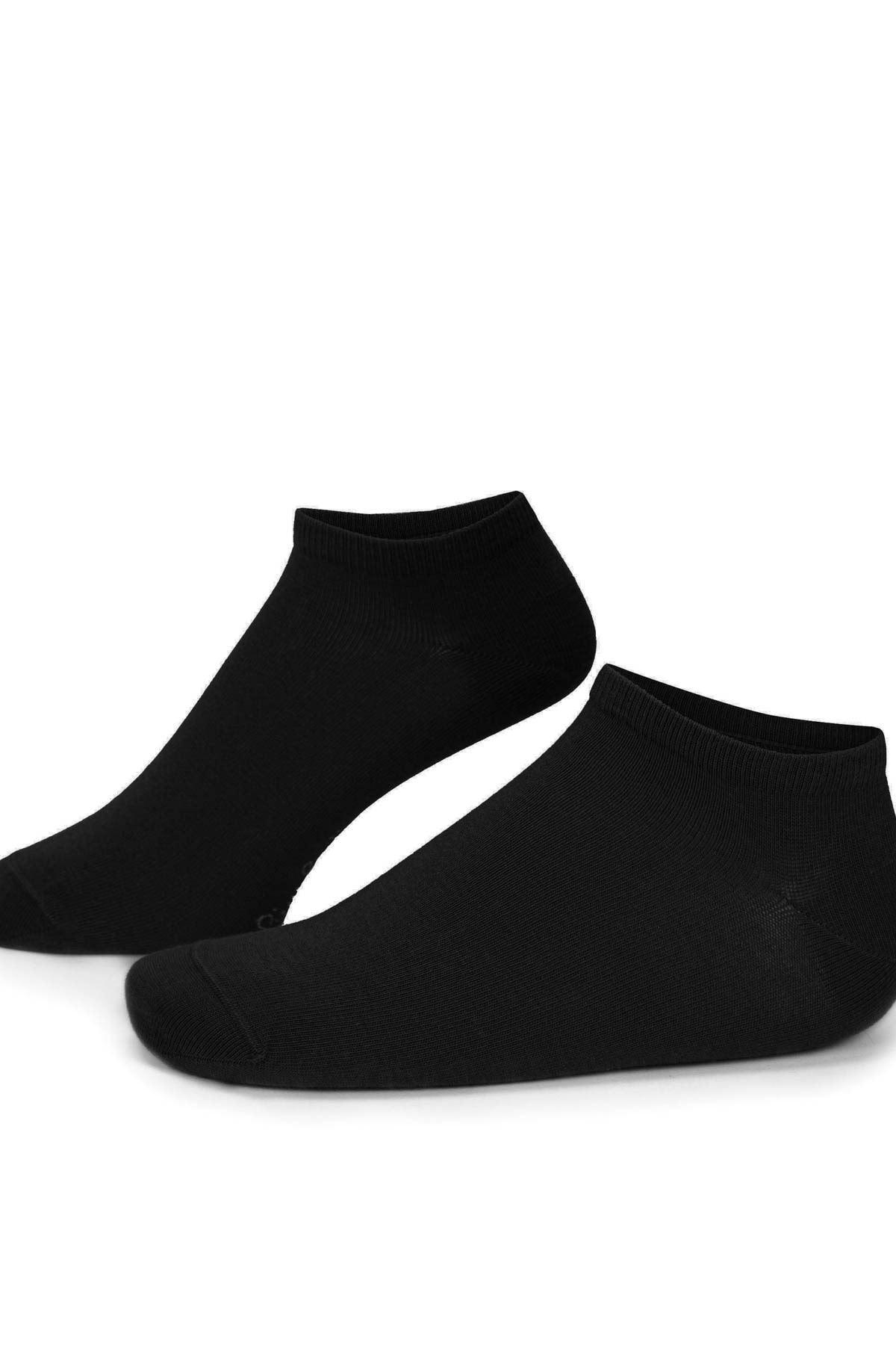 7 Adet Siyah Erkek Patik Çorap (40-44)