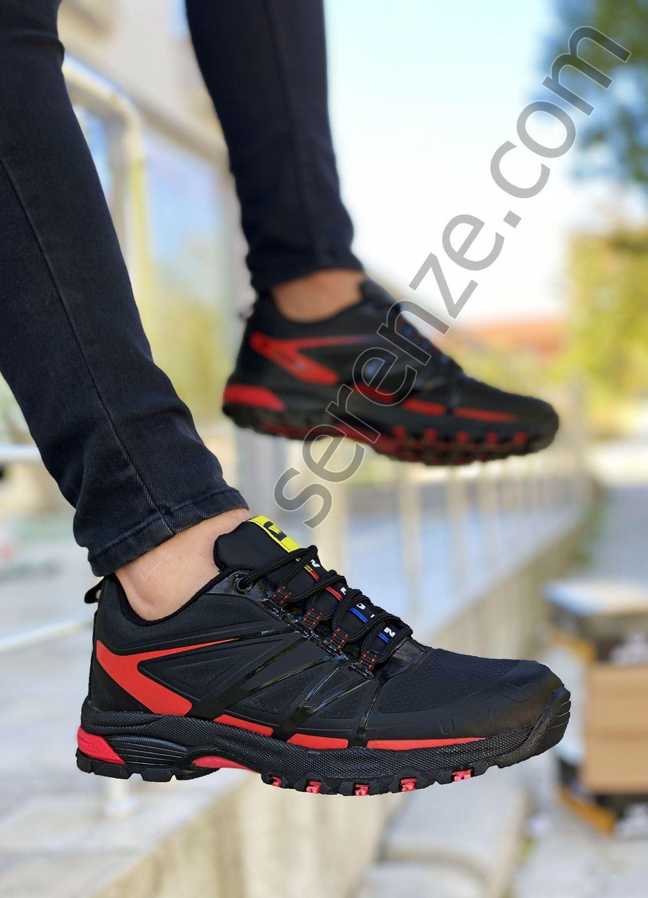 Kırmızı Detay Waterproff Erkek Trekking Ayakkabı
