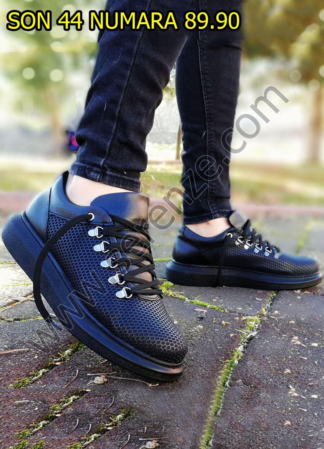 Petek Doku Siyah Spor Ayakkabı