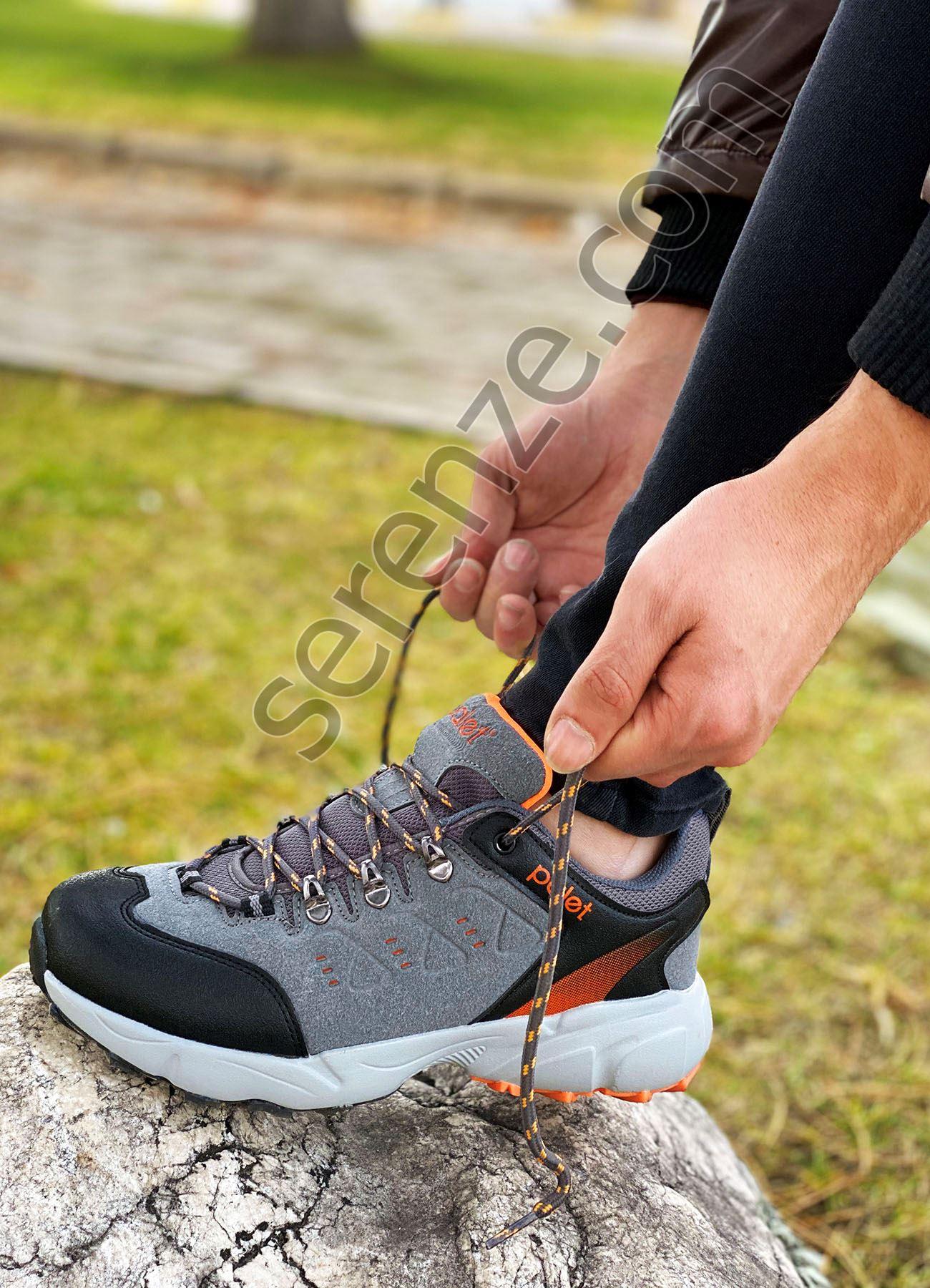 Gri Ultra Hafif Erkek Spor Ayakkabı