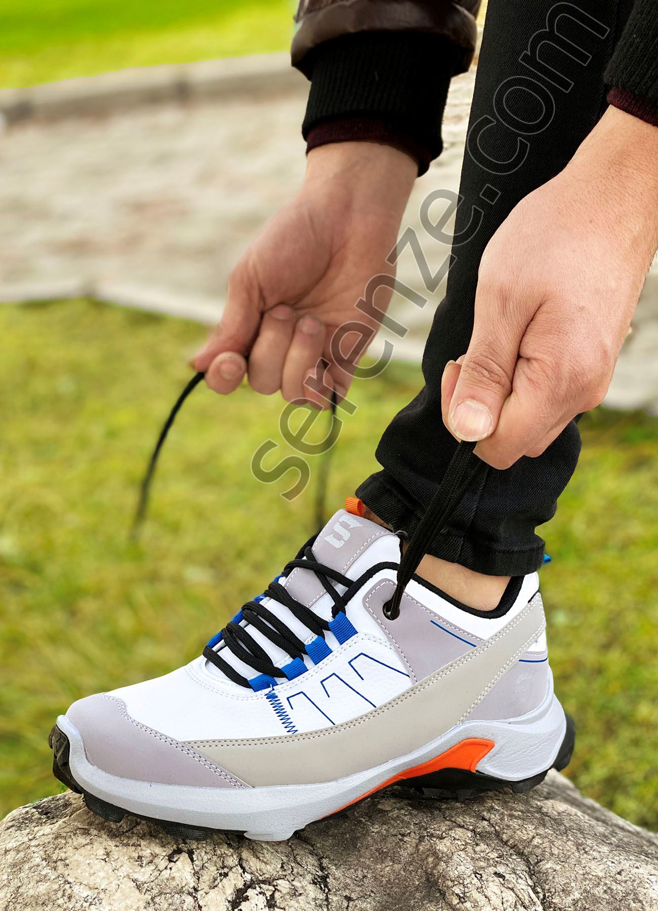 Beyaz Süper Strong Trekking Erkek Ayakkabı
