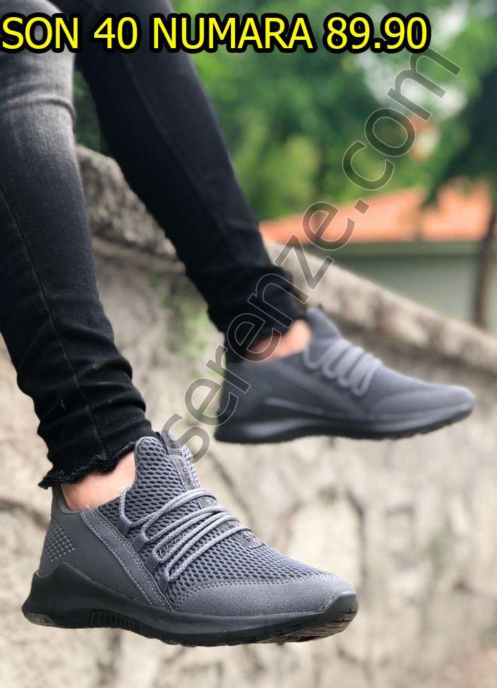 Füme Bağcık Detay Fileli Erkek Spor Ayakkabı
