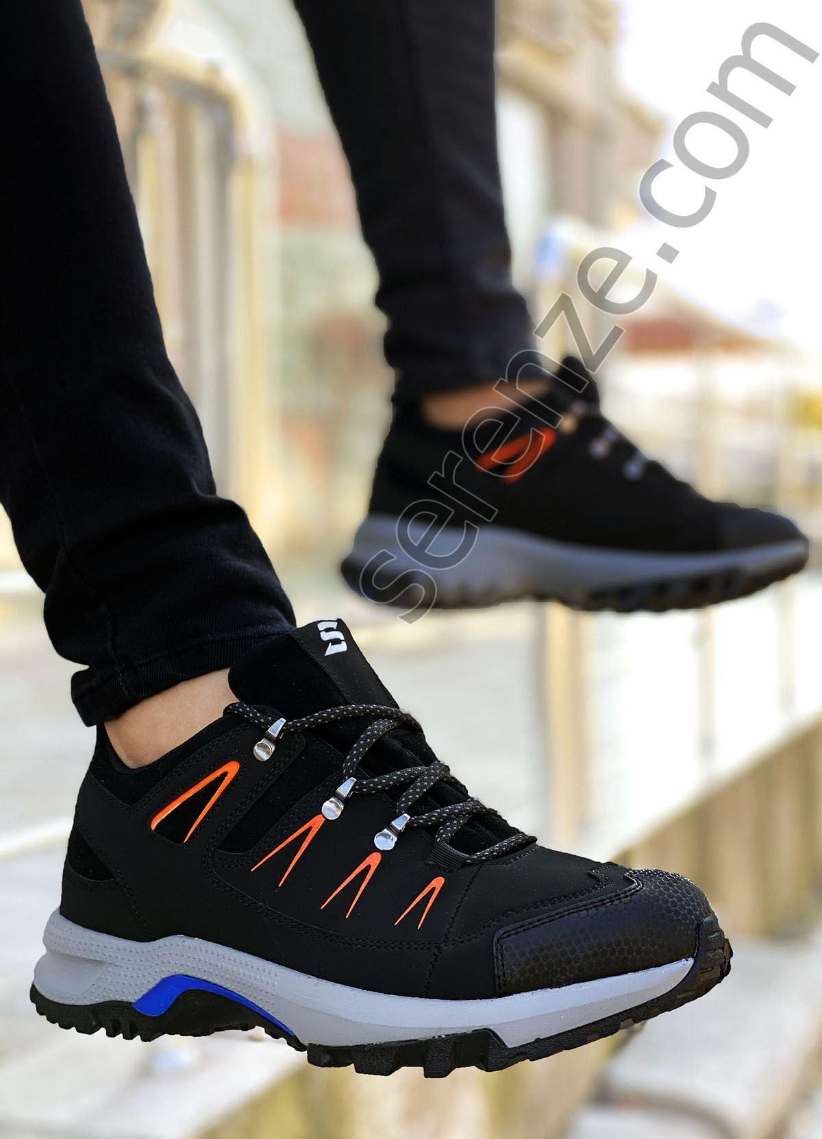 Siyah Turuncu Süper Strong Trekking Erkek Ayakkabı