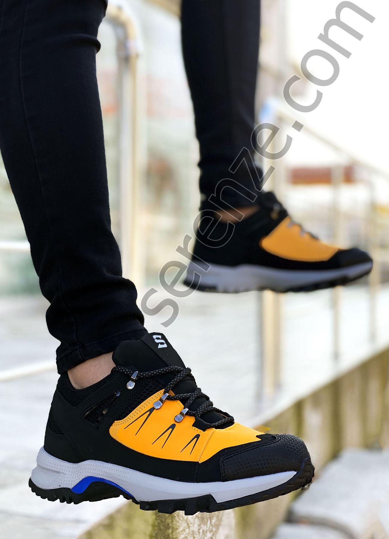 Siyah Sarı Süper Strong Trekking Erkek Ayakkabı
