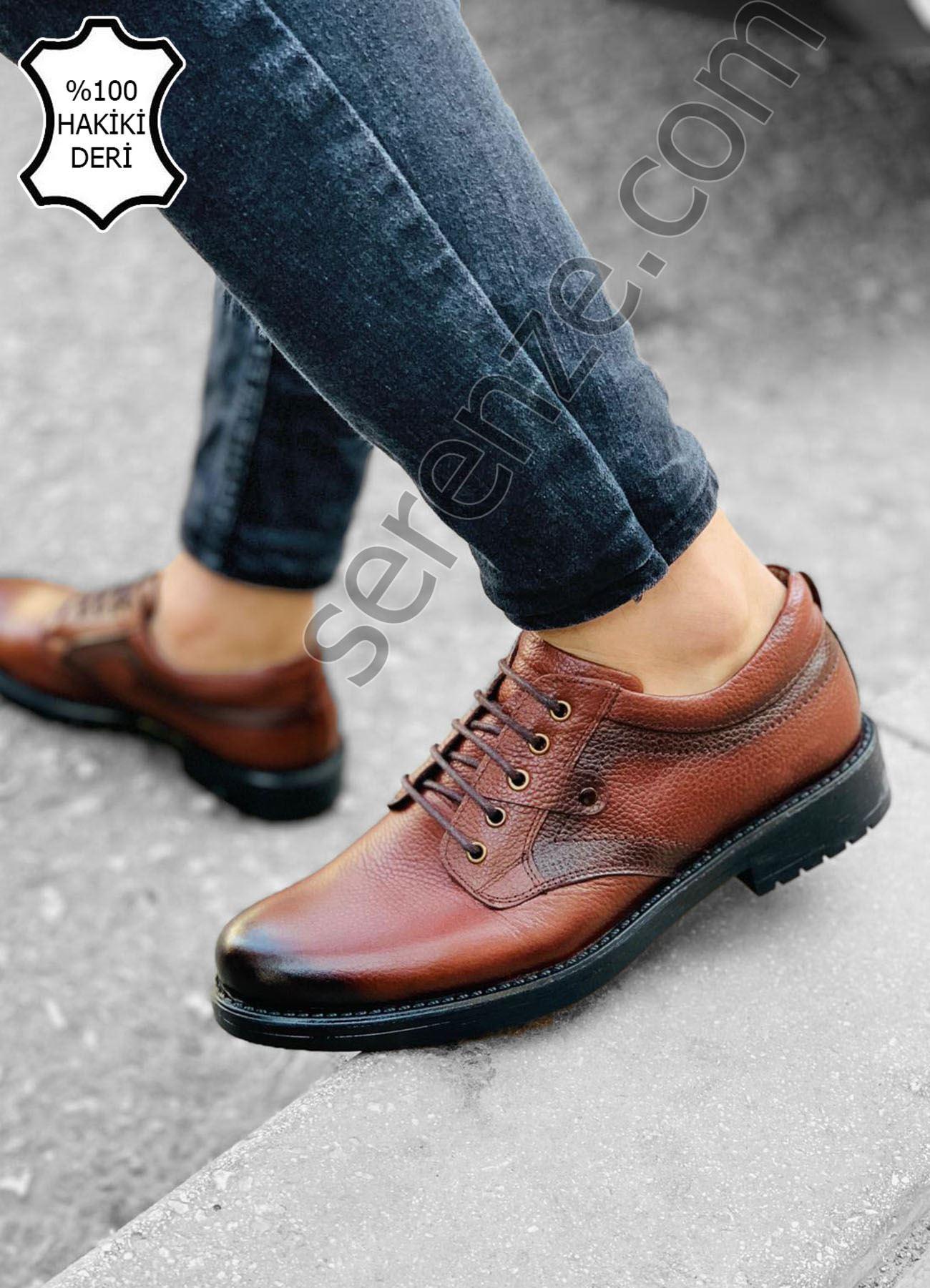Kahve Hakiki Deri Erkek Ayakkabı