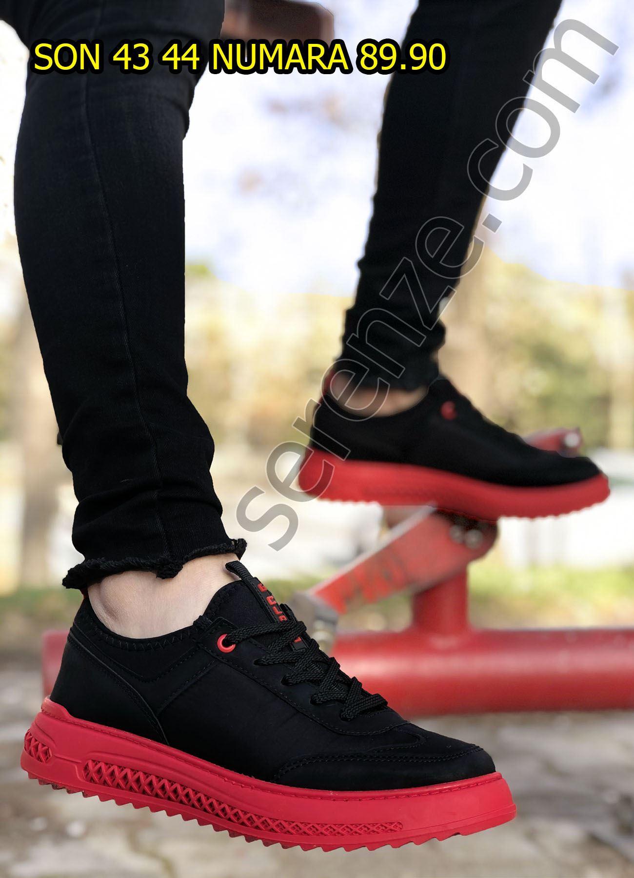 Kırmızı Zigzag Taban Erkek Spor Ayakkabı