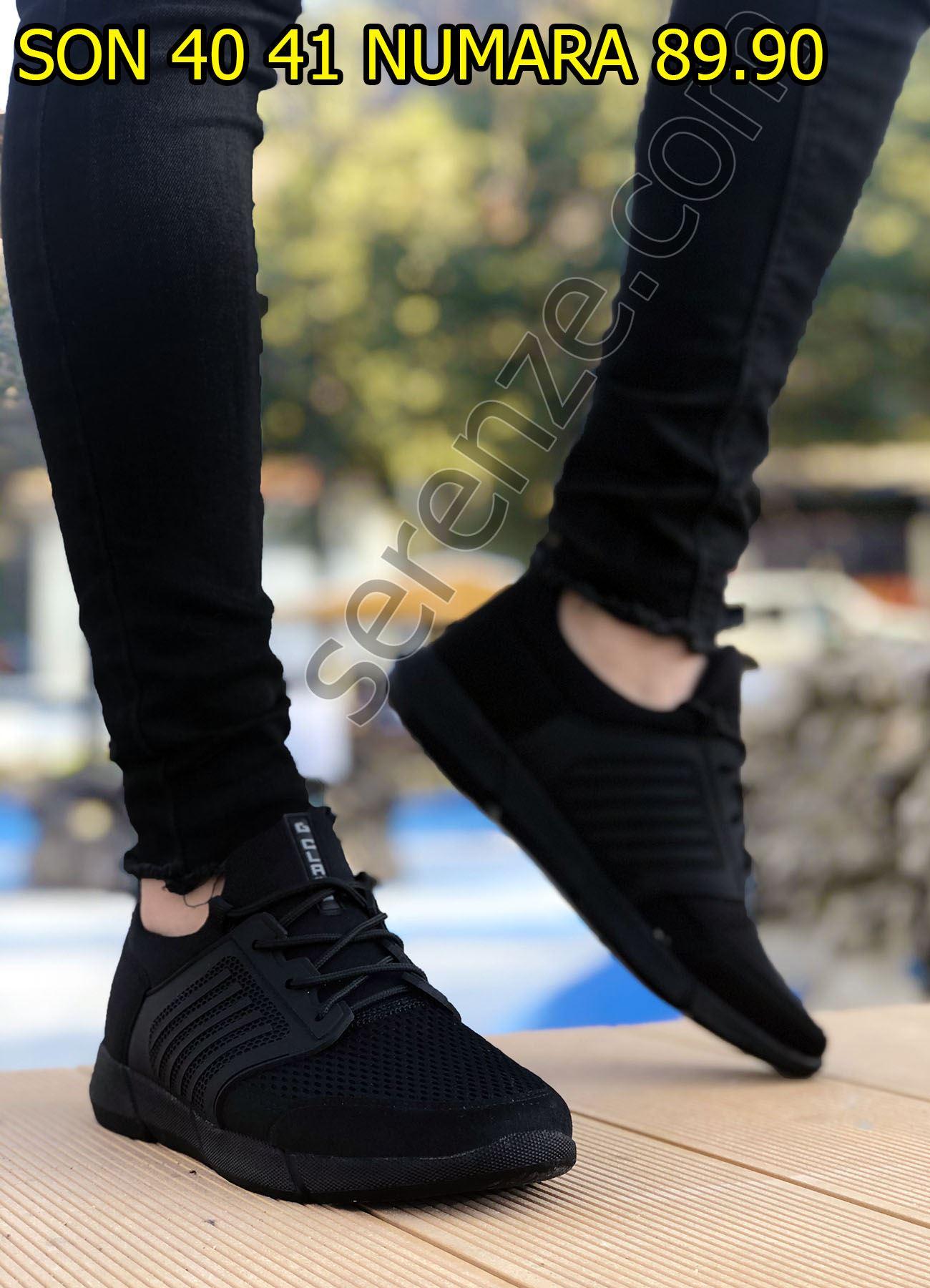 Siyah Air File Erkek  Spor Ayakkabı