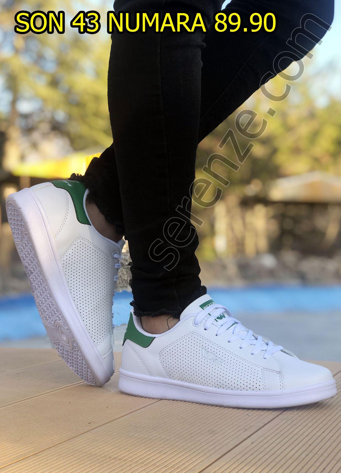Beyaz Delikli Ultra Hafif Erkek Spor Ayakkabı
