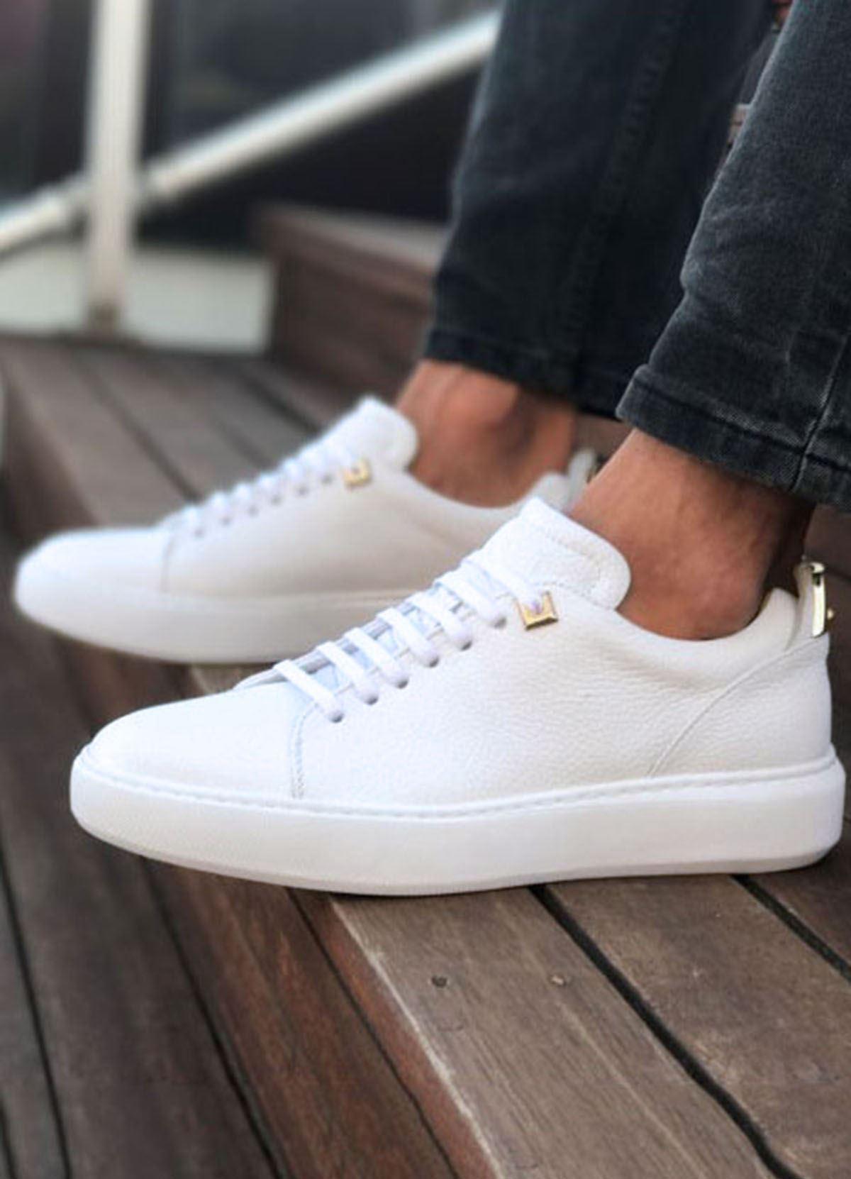 Bağcıklı Beyaz Günlük Spor Erkek Ayakkabı