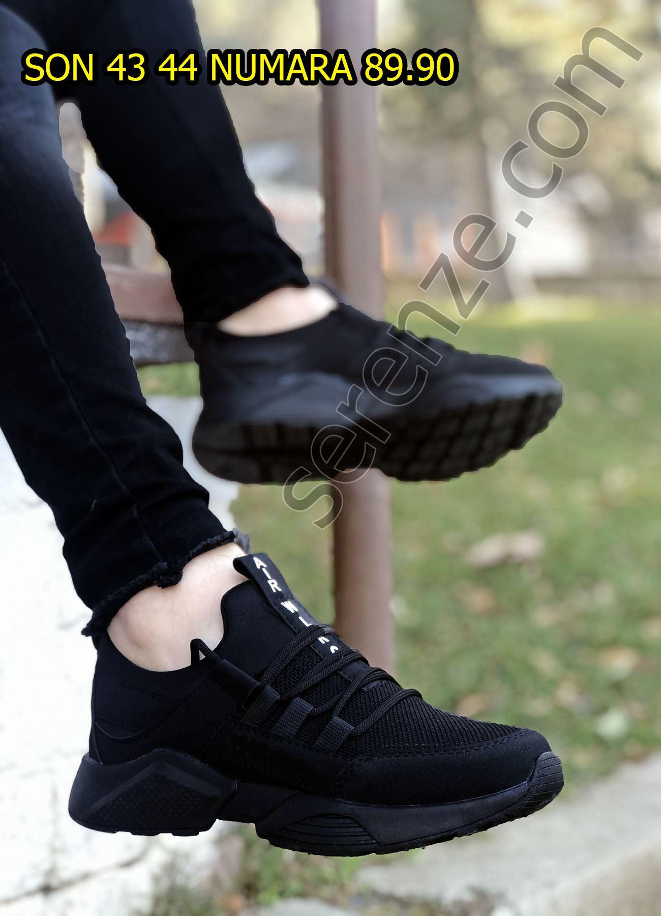 Siyah File AirPro Erkek Spor Ayakkabı