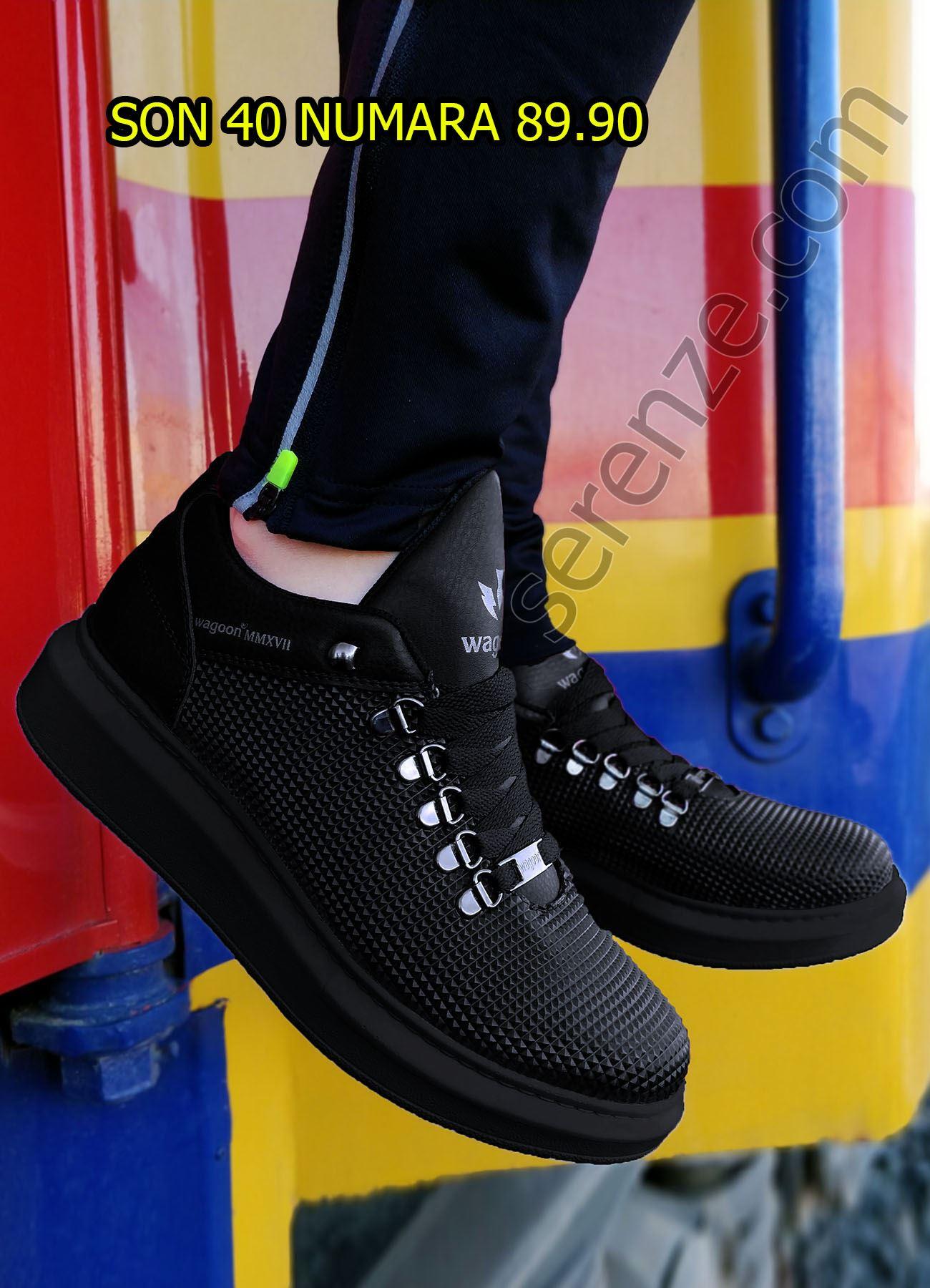 Piramit Doku Siyah Erkek Spor Ayakkabı