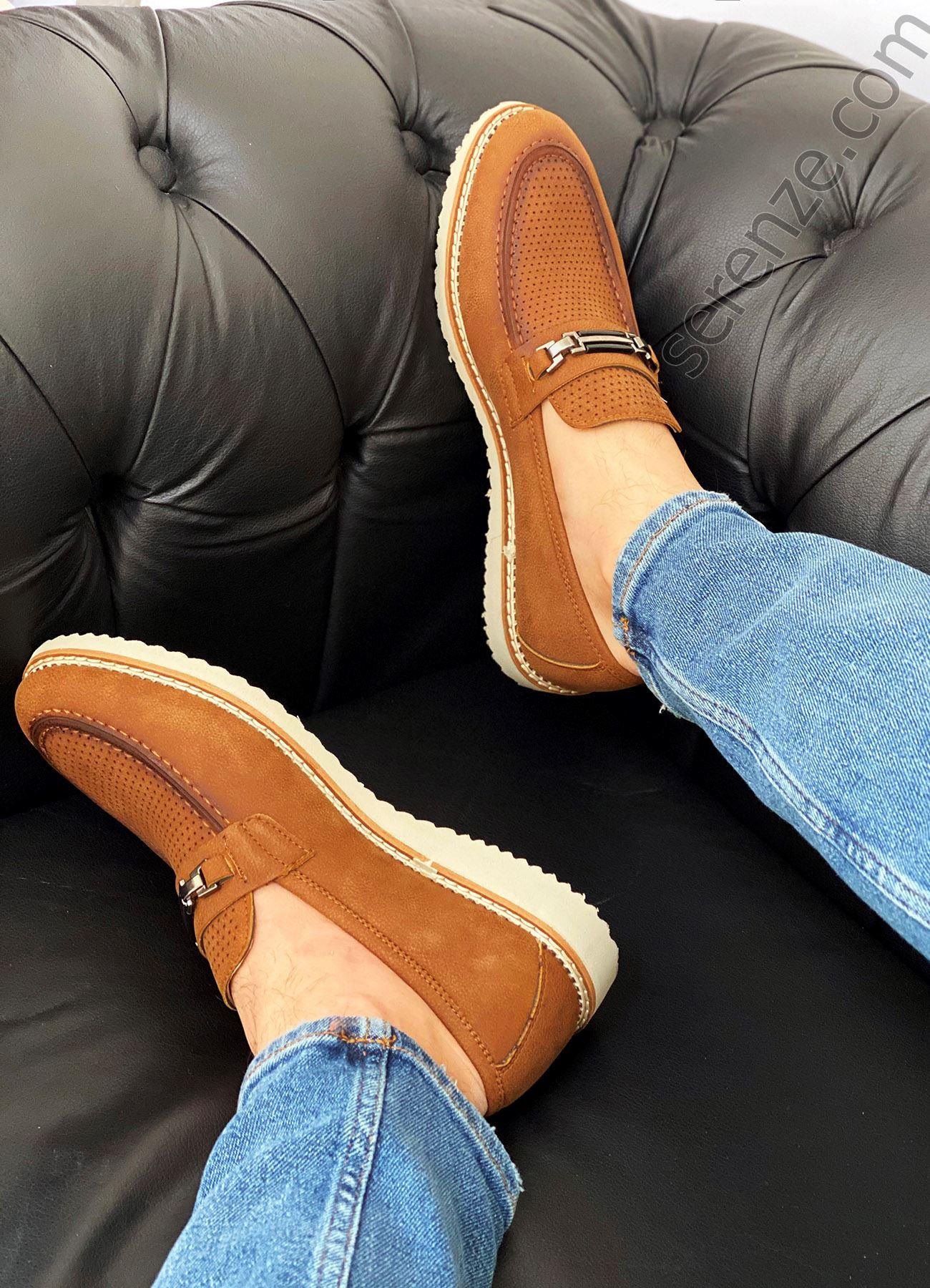 Taba Tokalı Erkek Klasik Ayakkabı