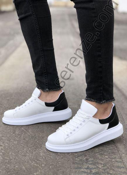 Siyah Detay Beyaz Erkek Spor Ayakkabı