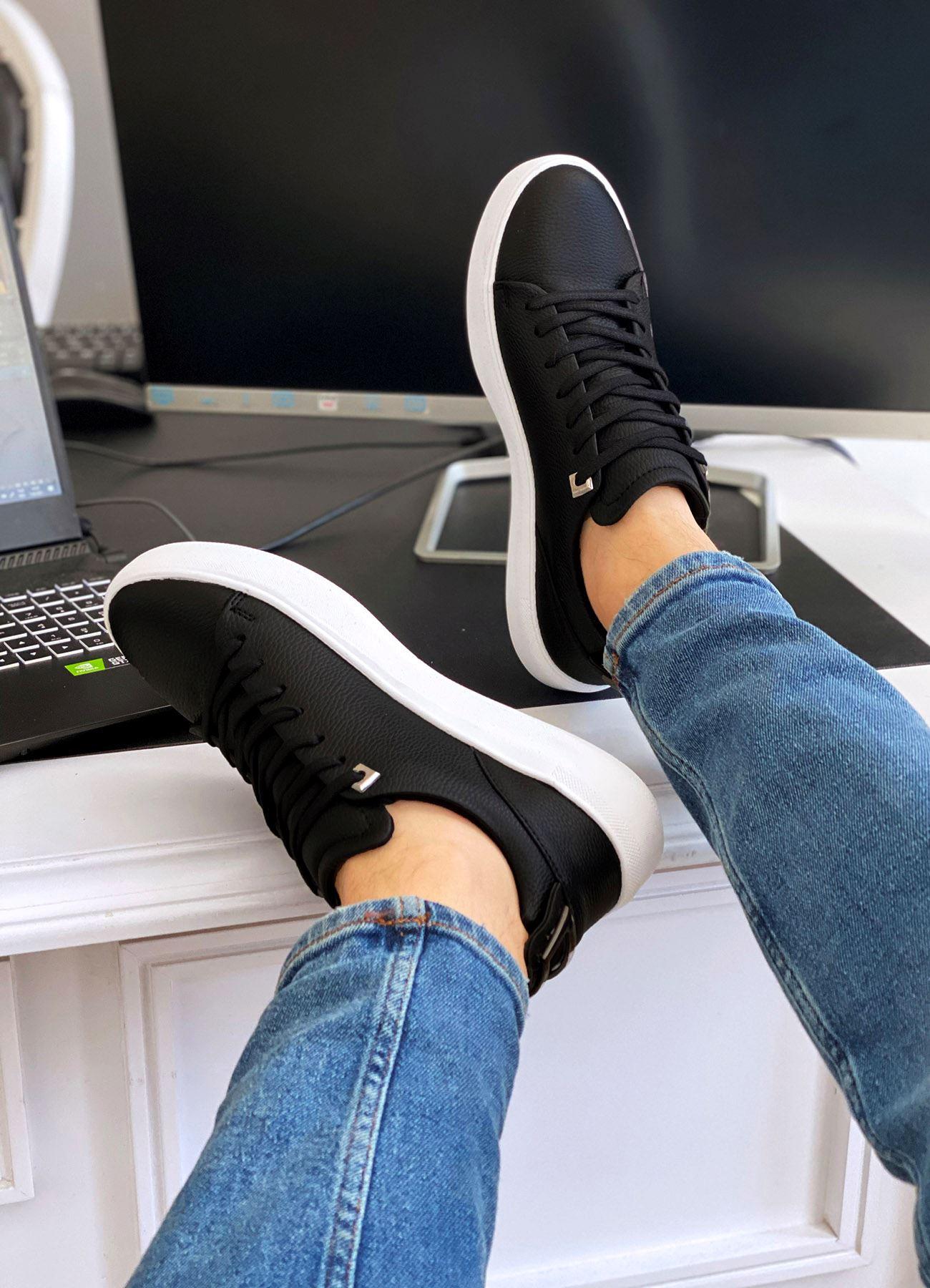 Bağcıklı Siyah Günlük Spor Erkek Ayakkabı