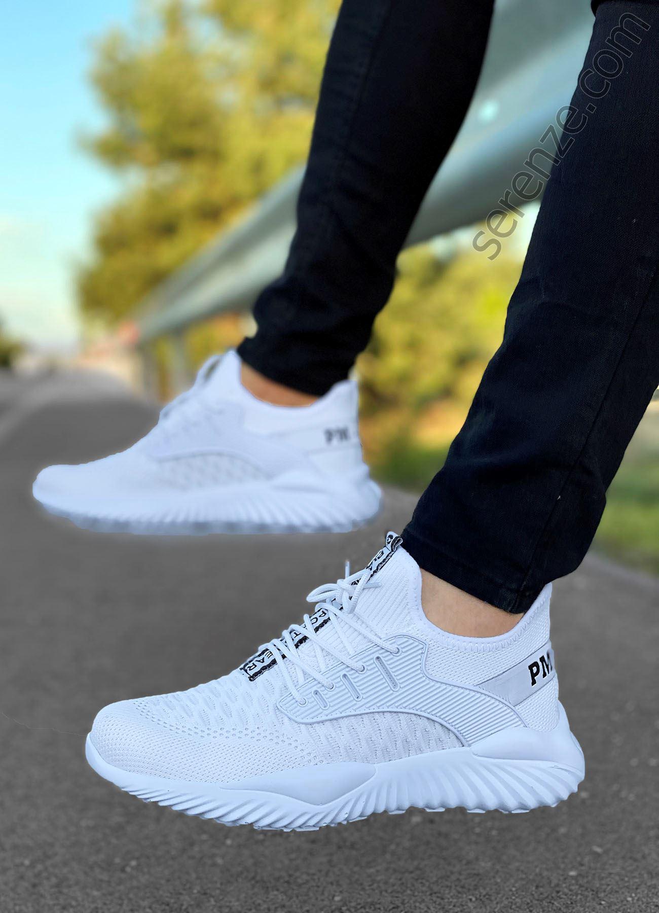 Beyaz Triko Erkek Spor Ayakkabı
