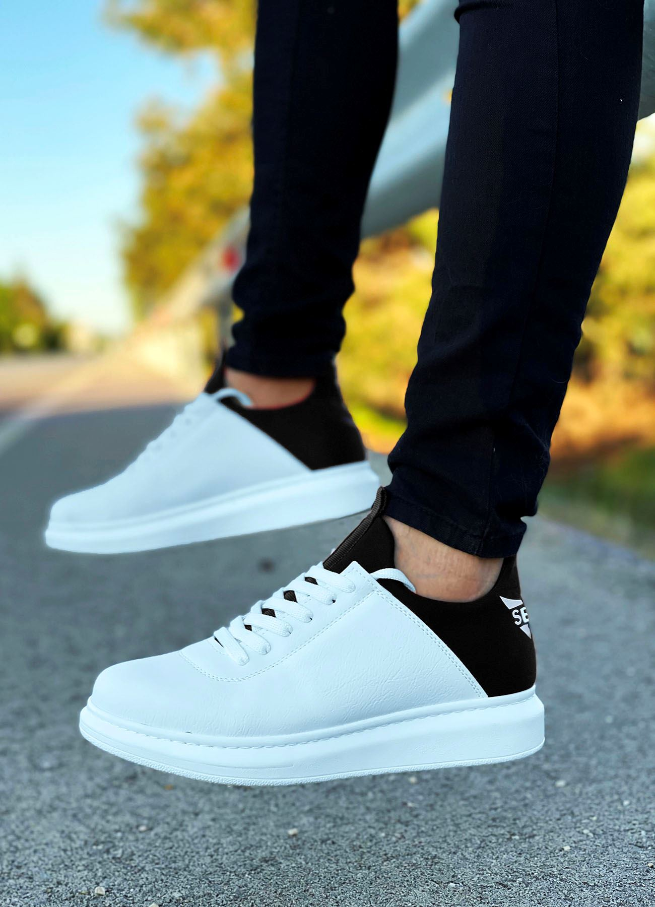 Serenze Siyah Beyaz Erkek Spor Ayakkabı