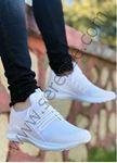 Beyaz Bağcık Detay Fileli Erkek Spor Ayakkabı