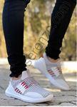 Beyaz İp Detay Triko Erkek Spor Ayakkabı
