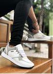 Beyaz Kancalı Ortopedik Erkek Spor Ayakkabı