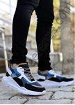 Mavi Siyah Karışık Desen Erkek Spor Ayakkabı