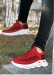 Kırmızı Örme Triko Tekno Erkek Spor Ayakkabı