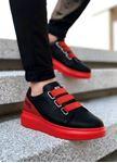 Kırmızı Siyah Lastikli Erkek Spor Ayakkabı Legend