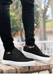 Siyah Beyaz Delikli Klasik Tarz Erkek Günlük Ayakkabı