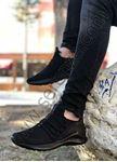 Siyah Bağcık Detay Fileli Erkek Spor Ayakkabı
